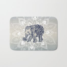 Elephant  Mandala Bath Mat