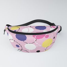 Abstract geometric circle rings. Fanny Pack