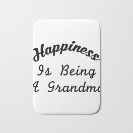 Great Grandma For Women Happiness Is Being A Grandma Bath Mat