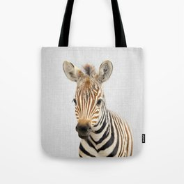 Baby Zebra - Colorful Tote Bag