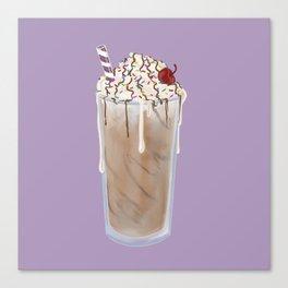 Frosty Chocolate Milkshake Canvas Print