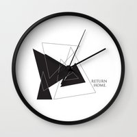 return Wall Clocks featuring Return Home by The Sea or You