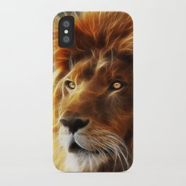 Lion face .King of beasts abstraction iPhone Case