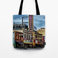 theater Tote Bags featuring Orpheum Theater by gypsykissphotography