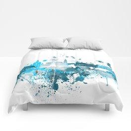 Dresden Monochrome Blue Skyline Comforters