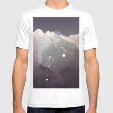Cosmic Cat MEDIUM Mens Fitted Tee White