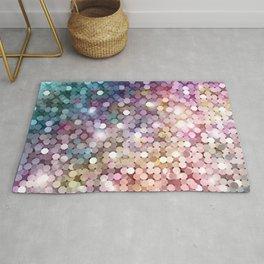 Rainbow glitter texture Rug