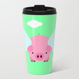 Flying Pig Metal Travel Mug