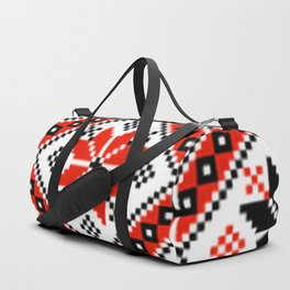 Floralline Red Duffle Bag