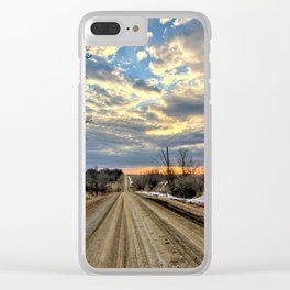 Spring Gravel Travel Clear iPhone Case