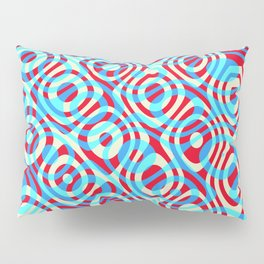 Mixed Polyps Red Blue - Coral Reef Series 035 Pillow Sham