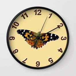 The Painted Lady Wall Clock