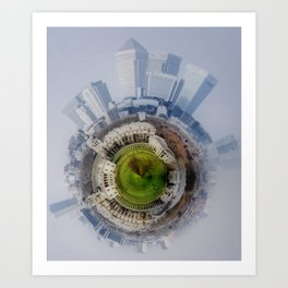 Canary Wharf Around Greenwich Art Print