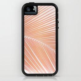 Palm leaf - copper pink iPhone Case