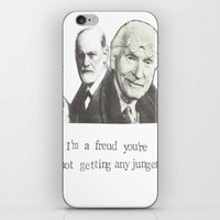 freud iPhone & iPod Skins featuring I'm A Freud You're Not Getting Any Junger by Blue Specs Studio