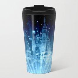 Magical Enchanted Castle Blue Travel Mug