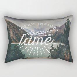 Adventures Are Lame Rectangular Pillow