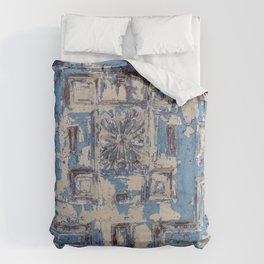 Blue Patterned Door Duvet Cover