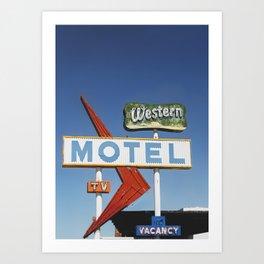 Western Motel Print Art Print
