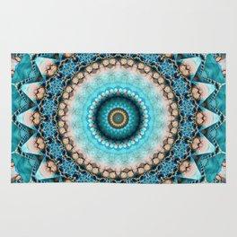 Mandala Precious stone turquoise Rug