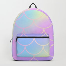 Pink Blue Mermaid Tail Abstraction Backpack