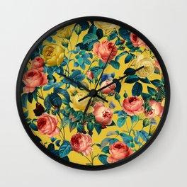 Summer Botanical Garden X Wall Clock