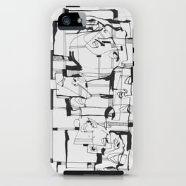 Start From Scratch bw iPhone Case