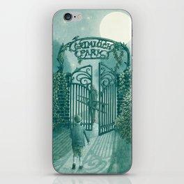 The Night Gardener - Grimloch Park iPhone Skin