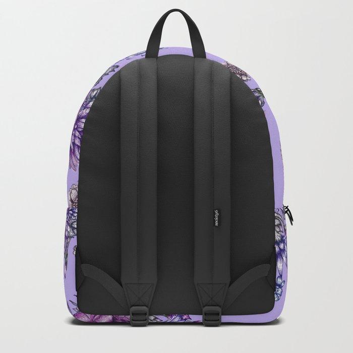Vintage Purple Florals Backpack