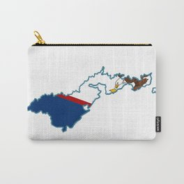 American Samoa Map with Samoan Flag Carry-All Pouch