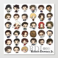 robert downey jr Canvas Prints featuring Robert Downey Jr. by Lady Cibia