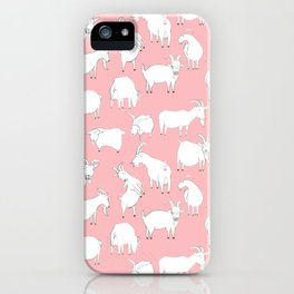 Goats Playing – Pink iPhone Case