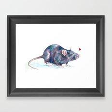 Rat love Framed Art Print