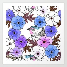 Cute bird 025 Art Print