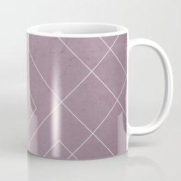 Overlapping Diamond Lines on Musk Mauve Coffee Mug
