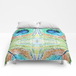 Peacok Feather Abstract Comforters