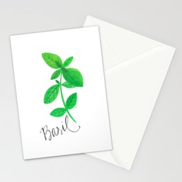 Basil Garden Art Stationery Cards