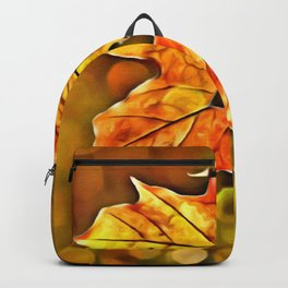 BOKEH AUTUMN LEAF & HEART Backpack