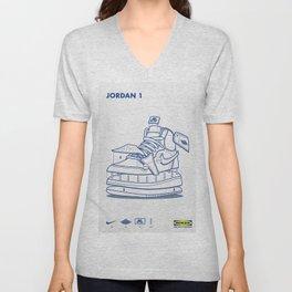 Jodan 1 Poster Unisex V-Neck