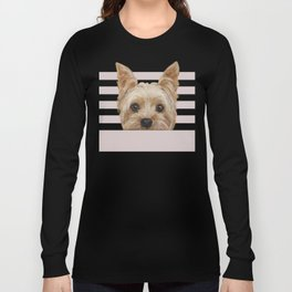 Yorkshire Terrier original painting print Long Sleeve T-shirt