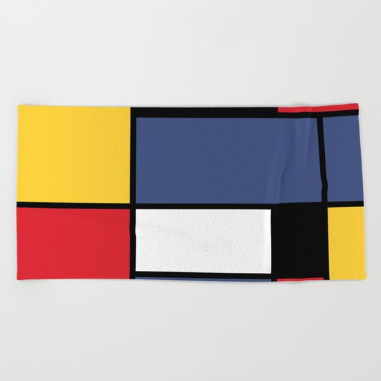 Abstraction color Beach Towel