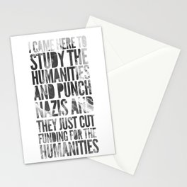 If Punching Nazis is Good Enough for Indiana Jones, It's Good Enough For Me Stationery Cards