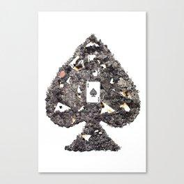 Death's Ace (without symbols) Canvas Print
