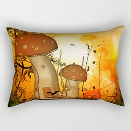 The fairy house in the night Rectangular Pillow