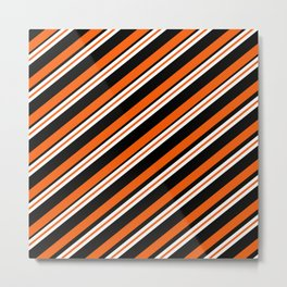 Team Colors ....orange,black, and white Metal Print