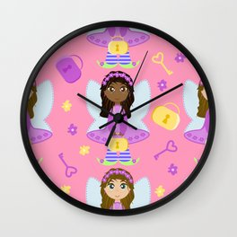 The pink fairy tale Wall Clock