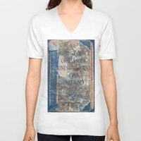 books V-neck T-shirts featuring Books by Dora Birgis