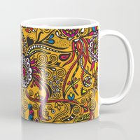 leah flores Mugs featuring Flores by Cris Couto