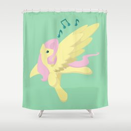 Sing Along Fluttershy Shower Curtain