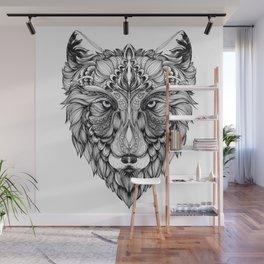 Husky , Line Art Illustration Wall Mural